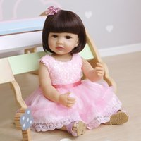 NPK 55CM Pink dress lifelike reborn todder doll real soft to...
