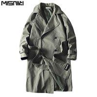 Misniki 2020 Новый Мужчины пальто Мужчины куртка шинели вскользь Ветровки мужские сплошной цвет моды Outwear JP62