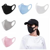 Anti-Dust-Gesicht-Mund-Abdeckung-Erwachsener PM2.5 Designer-Maske Atemschutzmaske staubdichte antibakterielle waschbare wiederverwendbare Eisseidenmasken