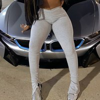 Stacked leggings joggers stacked sweatpants women ruched pan...