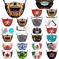 Mask Dhl Print Spain Skull Flag Italy Keep Fighting Face Mas...