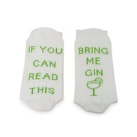 1 пар носки Если Вы можете прочитать Bring Me Gin Смешной дышащую Эластичность для зимних S55