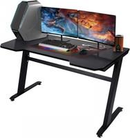 """47.2 """"Computer Desk Computer Scrivania, scrivania da gioco, scrivania da lavoro, scrivania da lavoro ufficio, risparmio spaziale, facile da montare, nero W20615682"""