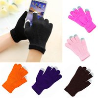 High quality Touch Screen Gloves Men Women Winter Warm Mittens Female Winter Full Finger Stretch Comfortable Breathable Warm Glove T03 BH776