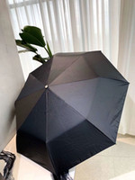 C Classic 3 Fold completamente automática Negro Umbrella 2020 último estilo Sombrilla con la caja de regalo y bolsa de cuero para el cliente VIP
