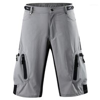 Sports Homme Calças Curtas Casual solta Mid cintura Masculino Calças motociclista respirável Mens Shorts cor sólida
