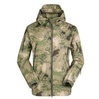 Outdoor Jackets&Hoodies Tactical Gear SoftShell TAD V 4.0 Camo Jackets For Men Hunting Clothes Hiking Waterproof Windbreaker Coats