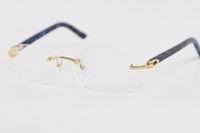 Les fabricants de gros 8200757 Or Argent Rimless Lunettes cadres femmes hommes lunettes cadre or Taille: 56-18-140mm