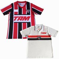 1993 1994 Sao Paulo retro Fußball-Trikot 93 94 zu Hause weg klassischen Vintage-Fußballhemd S-2XL