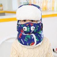 Новые мальчиков и девочек зимы шлема шеи Маска двойного назначения шлема Trapper зимы шлема против мутности Caps
