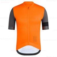 Erkekler Turuncu Bisiklet Jersey Raudax 2020 Pro Takım Yaz Bisiklet Giyim Hızlı Kurutma yarış spor Gömlekler Bisiklet Formalar