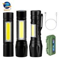 Fenerler Torches Zhiyu Taşınabilir Mini LED Yakınlaştırma Batarya USB Şarj Edilebilir Işıklar 3 Modu XPE COB Outdorr Avcılık Çalışma Torch