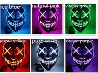 2020 nouveau masque d'horreur Halloween LED Purger Cover Election Mascara Costume Party DJ Light Up Masques Glow dans des couleurs sombres pour choisir