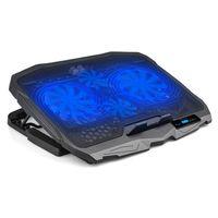 Laptop-Kühlkörper Touch LCD-Display-Gaming-Kühler 2 USB-Anschlüsse und 4-Fans Luftpad-Notebook-Ständer für 12-15,6 Zoll