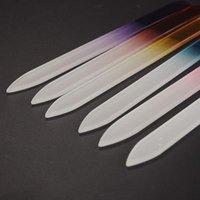 다채로운 유리 네일 파일 내구성 크리스탈 파일 마스 드 우나 클루 버퍼 우나 케어 네일 아트 도구 매니큐어 UV 폴란드어 도구 네일 파일