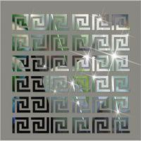 30PCS 5 * 5CM DIY الخصر الخط 3D مرآة ملصق الحديثة الاكريليك جدار ديكور غرفة ديكور ملصقات الحائط لغرف الاطفال غرفة المعيشة