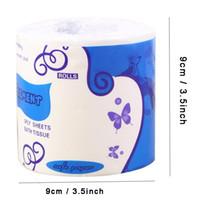 10 rolos de papel higiénico papel toalha grossa liso macio 3 Ply rolo Papers Banho Papel Higiênico Papel Saudável Virgin polpa de madeira Guardanapos BH3505 DBC