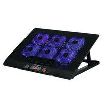 Ice Coarel Laptop Refrigeratore Six Fan di raffreddamento e 2 porte USB Basamento per notebook con display LCD leggero per 13-16 pollici