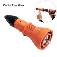 Gelb Blau Elektrische Nietmutter Gun Nietmutter Werkzeug Cordless Nieten Bohrer Adapter Rivet Bits Werkzeug Bohrer 2.4mm-4.8mm