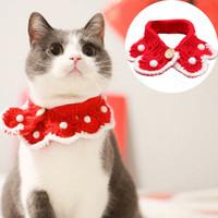 Cute Pet Кошки банданы Рождественские украшения Шерсть Вязаный ошейники Собака Кошка Bib шарф Щенок Поставки оптом