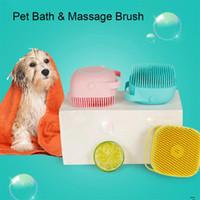 Pet Dog Brush Cat Massagem Massagem Silicon Silicon Chuveiro Chuveiro Pente Ferramenta de Limpeza Pet Champô Shampoo Banheiro Armazenamento Animais De Estimação Suprimentos Depilação