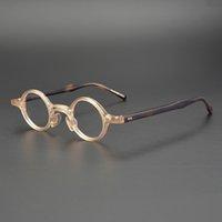 Acetat Kleine runde Gläser Männer Frauen Vintage Retro Klarobjekte Optische Brillen Rahmen Rezept Brillenrahmen Brille