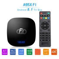 A95X F1 الروبوت 8.1 TV صندوق AMLogic نوع S905W 2GB 16GB الذكية التلفزيون صندوق 2.4G واي فاي