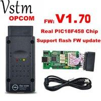 Авто OBD2 OPCOM V1.70 OPCOM для автомобиля диагностического сканера с Real PIC18F458 для OP COM диагностического инструмента флэша-прошивки