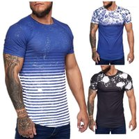 Adam Casual Baskı Kısa Kollu Homme için Mens Kamuflaj Tasarımcı tişörtleri Yaz O-boyun İnce Spor Tees Tops