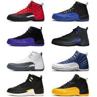 Mode Jumpman 12s noir Concord chaussures de basket-ball Hommes Retro inverse grippe jeu 12 taille University Gold Stone Bleu 13 formateurs hommes chaussures de sport