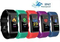 İzleyici Nabız Adımsayar Akıllı Bant Akıllı Bileklikler Running ID115 PLUS Renk Ekran Akıllı Bileklik Spor Adımsayar İzle Spor