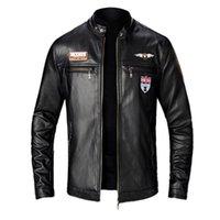 KANCOOLD 2020 YENİ Sonbahar Kış Erkek Deri Ceket Motosiklet Ceket Erkek Yaka Palto Deri Biker ceketler Jaqueta 824 Standı