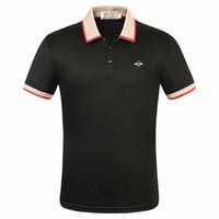 2020 neue heiße biene polos luxus mens designer polo t shirts sommer kurze ärmelig umdrehende kragen kurze ärmelige tops polo shirts