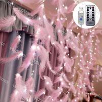LED-Saiten 3x2m / 3x3m Fenstervorhang 200LED 300LED mit rosa Federsteuerung 8 Modell Feiertagsbeleuchtung für Party Home Hochzeit Wanddekoration DHL