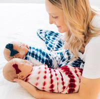 Bebé recién nacido Swaddle Manta de la manta Diadema 2 PCS Wrap Ins Wrap Ins Wrap Ins Dibujos animados de dibujos animados Sacaboltos Fotografía PROP Lazo Dye Sueño Infantil Bolso