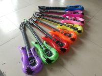 Bujas Infláveis PVC Guitarra Saxofone Microfone Instrumento de Aniversário Música Concerto Party Decoração Instrumentos Musicais Balão