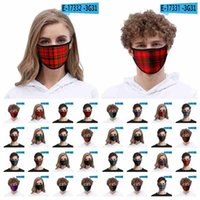 Máscara de la manera 3D de la tela escocesa de cara para adultos cuentos para niños a prueba de polvo de seda del hielo de la boca de la máscara a prueba de viento reutilizable lavable de protección CYZ2612 Máscara diseñador