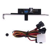 Fanlar Soğutma 3 Kanal Fan Hub 1 Topuzu Soğutma Hız Kontrol CPU Durumda HDD VGA PWM PCI Braketi Güç 12 V Kontrolü ile