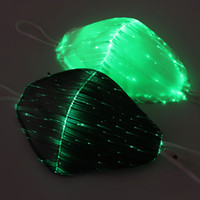 USB 충전 광섬유 천으로 마스크 + LED 안티 먼지 마스크 7 색 변경 가능한 빛나는 마스크 DJ 음악 파티 블랙 화이트 다이아몬드 광장