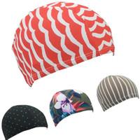 Nylon Bonnet motif fleur d'impression Douche Solide Couleur Coiffures élastique Convient adulte Imperméabilisants Hat Mode 0 9dm G2