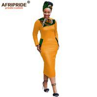 2021 Vestidos Africanos Bodycon para mulheres com déneap + bolsos tradicionais kanga roupas dashiki bazin affripride a1925033