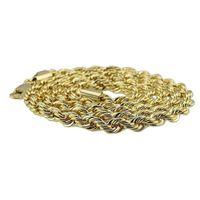 8 мм толщиной 76см длинная твердая веревка витая цепь 24k золотая посеребренное хипшопу витая цепочка ожерелье для мужчин