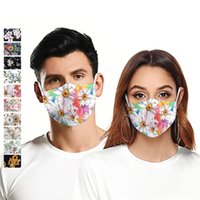 3D Fresh flower print sports outdoor riding mask Mouth Masks...