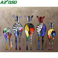 arte della parete della vernice di DIY dai numeri Animali disegno su tela decorazione della casa da colorare By Numbers acrilico Paint Horse dipinto a mano regalo
