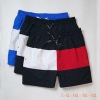2020 Verão novo Stripe Mens Swimwear Praia Shorts calções qualidade de surf quente Mens Polo calções de natação calças curtas L-4XL