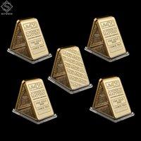 5 pz UK London Replica Belle Gold 999 1 oncia Troy Johnson Matthey Artigianato Assayer Refiners Bar / Coin da collezione da collezione