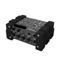 Freeshipping Line Mixer Minimischer Tonmischpult Konsole USB 6/8 Eingänge 2 Ausgänge Lautstärkeanzeige Pegelsteuer