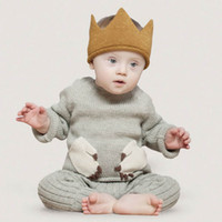 Little Lord' s Knitted Crown Fashion Colors Design Lovel...