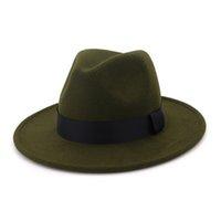 ZJBECHAHMU Moda homens Fedoras mulheres moda verão chapéu jazz Vintage cap mistura de lã preta ao ar livre chapéu ocasional 2020 New