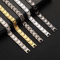 Горячие продажи в европейском и американском мужском магнитном браслете Магнитная терапия Гематит Титановый браслет Съемные мужские украшения